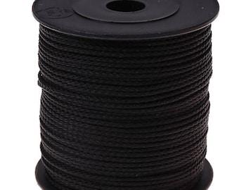 1.5mmx1m polyester black thread/string