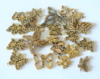 set of 20 butterflies