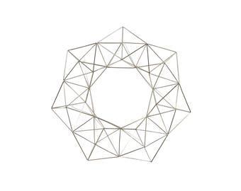 "Silver Wreath - Himmelli Geometric Decor -  Wreath - Metal Wreath - 16"""