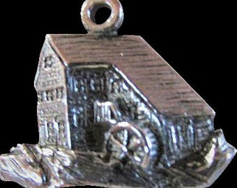 Vintage Charm ~ OLD MILL & STREAM ~~ Vintage Charm ~~ Sterling Silver Charmer