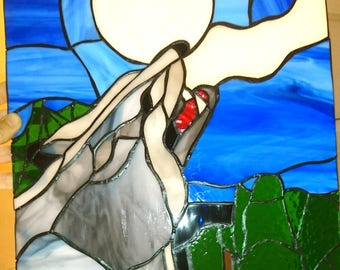 stained glass stained glass Wolf