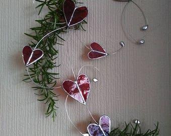 Valentine's Love Heart Swirl/ hearts/stained glass/sun catcher/gift