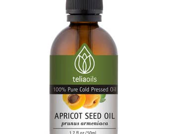 Apricot Kernel Carrier Oil, 100% Pure Cold Pressed, Natural Undiluted, for Face Hair and Body 50 ml / 1.7 fl oz