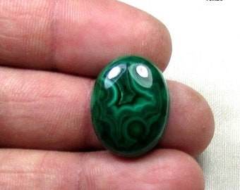 ON SALE 19ct Malachite Natural Gemstone, Cabochon Semi Precious Loose Gemstone in Stock 16x20