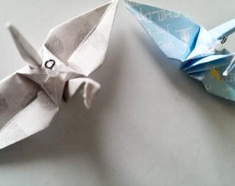 10 wax Adorable Crane Ornaments!! Heart & Blue Baby Boy