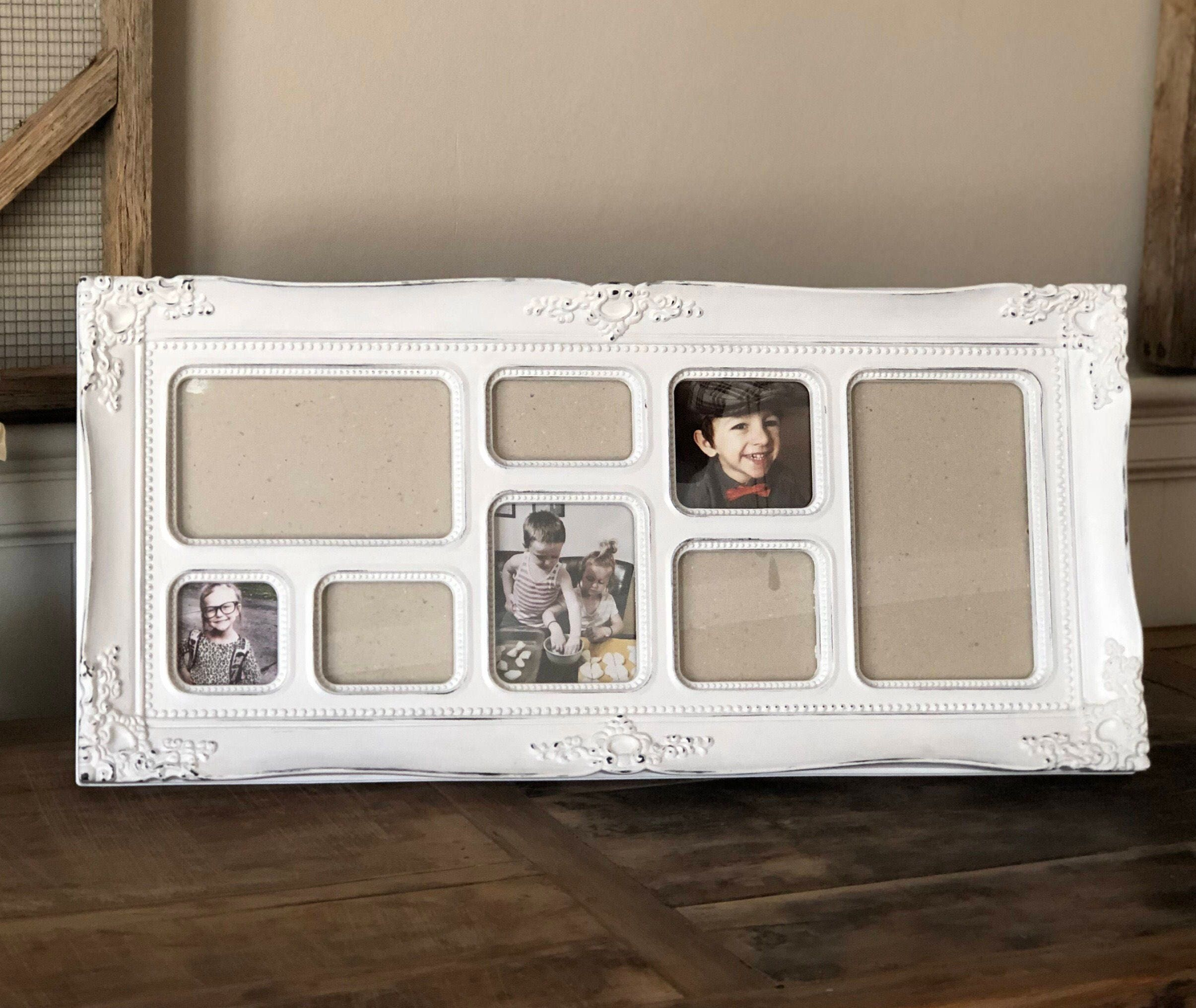 Shabby Chic Ornate Collage Frame; White Child or Nursery Frame ...