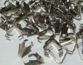 100 silver-tone triangular pendant grip bails