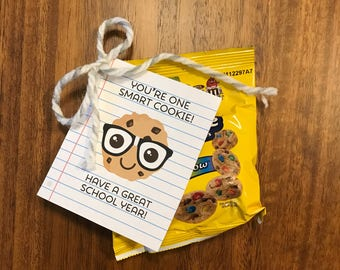Back to School Handout - Smart Cookie - Cookie Treat Handout- INSTANT DOWNLOAD