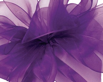 Regal Purple Sheer Ribbon     (10-##-S-137)