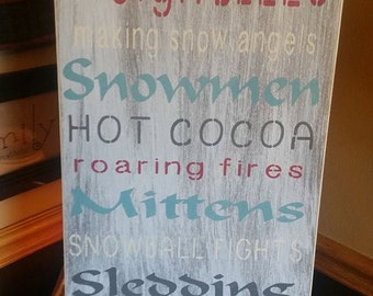 Winter Fun Painted Sign