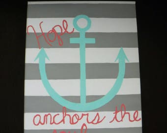 Hand Painted Canvas - Anchor