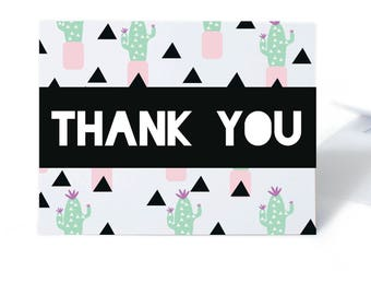Cactus Thank You Card Set