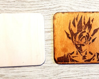 Pyrography magnet or cup coaster