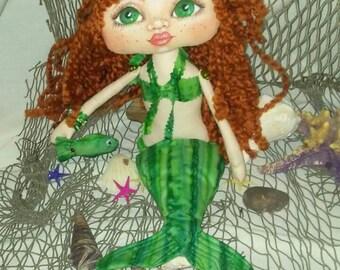 Ree Merboo,a Cloth Art Doll by Liz Parent