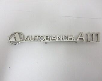 Vintage Autobianchi A111 Car Badge Logo Emblem - European Market Factory Original
