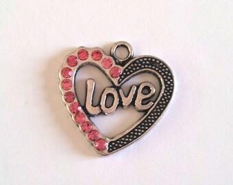 Heart pendant love T37