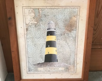 Vintage St John's Point Lighthouse Print