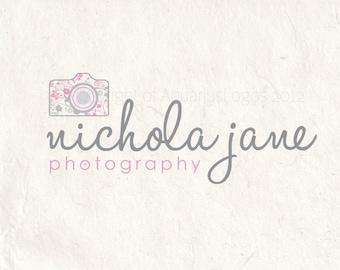 Photography logo design photography logo Watermark camera logo floral logo. Instant download digital download psd file