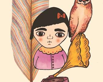 LILLIANA A4 Art Print by Winnifreds Daughter