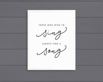 Those Who Wish to Sing Art Print (Vertical) • Printable • Digital Download