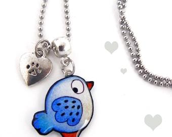 Pendant for children little Blue Bird