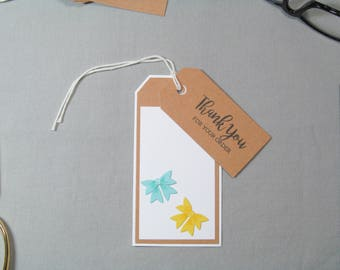 Business Thank You Tags - Small Business Tags - Bow Tags - Fabric Bow Tags - Handmade Seller Tags - Thank You Tags – Handmade Business Tags