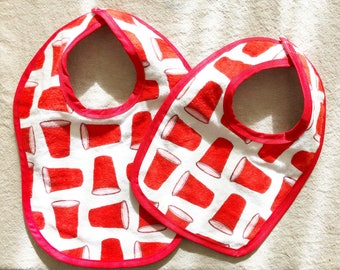 Baby bib RED CUP / SOLO cup handmade