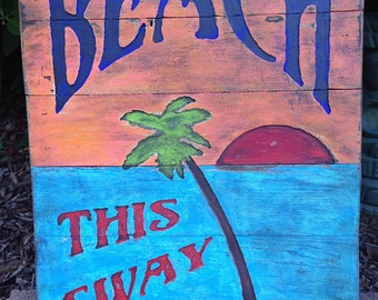 Beach This Sway Pallet Sign