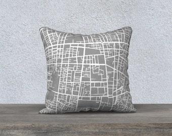 Tehran Map Pillow Cover