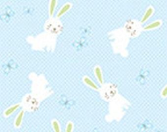 Bunny Hop - 8078-5 Hunny Bunny Baby Blue - by Greta Lynn for Kanvas in Association with Benartex