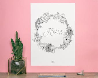 "Poster ""HELLO WREATH"""
