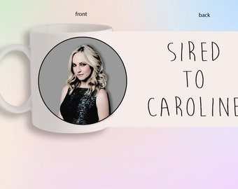 Sired To Caroline Forbes The Vampire Diaries Originals Portrait Front And Back Gift Mug