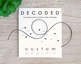 CUSTOM - Morse Code Bracelet - Personalized Morse Code Jewelry - Custom Bracelet - Personalized Jewelry