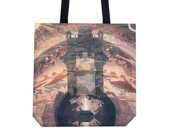 Tote bag Canvas tote bag Shopping bag Ciurlionis art Shopping tote Martket bag Brown handbag Shoulder bag