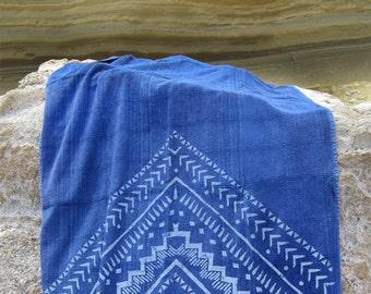 Bohemian Beachtowel, Ethnic Beach Towel, Luxurious Spa Peshtowel, Printed Festival Blanket, Handcrafted, NAVAJO