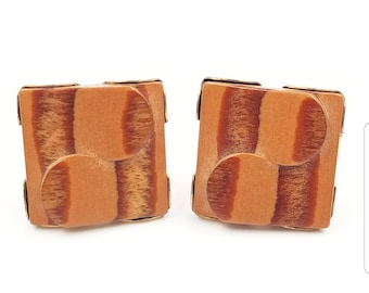 Vintage Carved Wood Cufflinks, Wood Grain Cufd Links, Men's  Jewelry Gifts Accessories