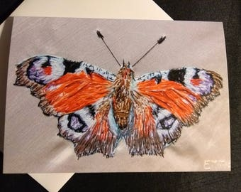 Tortoiseshell Butterfly Greeting card