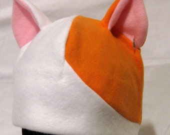 Cat Ear Hat - Calico - NATURAL COLORS