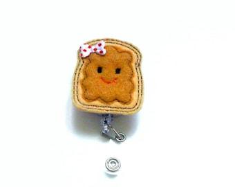 Peanut Butter Felt Badge Reel   Nurse Badge Reel   Peanut Butter Planner Clip   Nurse Gift   Retractable   Badge Holder   Feltie   Cute