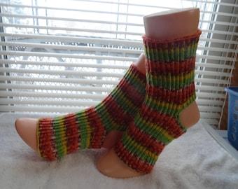Hand knitted Yoga / Pedicure / Pilates / Dance Socks #004