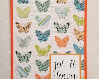 Colored Notepad, Colorful Butterflies