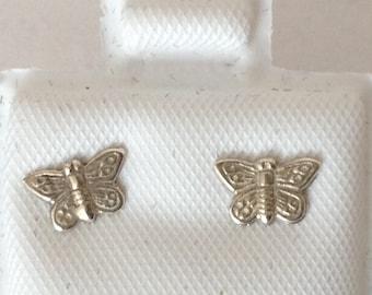 Butterfly Mini Pierced Post Earrings 925 Sterling Silver gw16-066