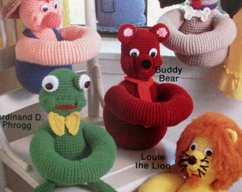 Annie's Attic 87B40,  Bobblers Crochet Pattern, Crochet Toys That can Hang off Things or Hug