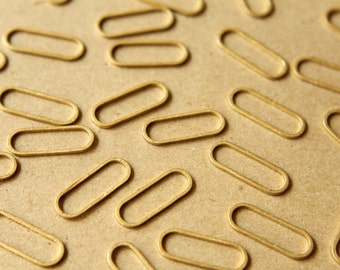 100 pc. Raw Brass Stretched Oval Links: 19mm by 7mm | FI-199