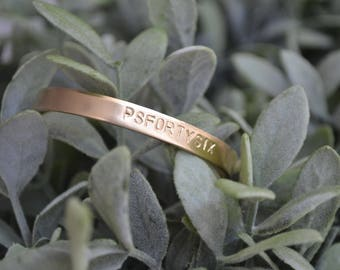 Personalized Cuff Bracelet, Brass