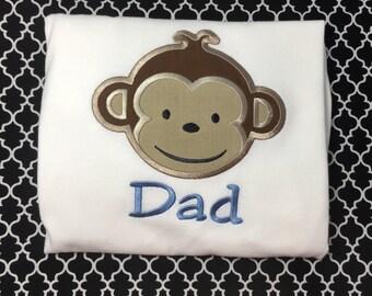 Mod Monkey Birthday Shirt