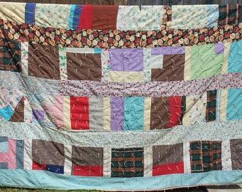 Vintage Quilt - Crazy Quilt - Vintage Handmade Quilt - Bedding - Quilts - Farmhouse - Country