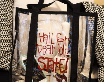 Clear Gameday Tote Bag, SEC Gameday Clear Purse, Missississippi State Gameday Purse, NFL Clear Purse