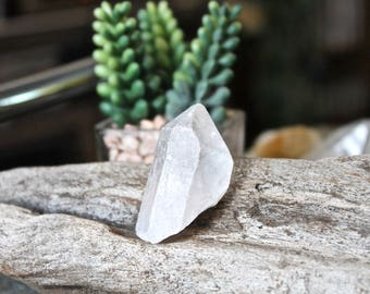 """1.75"""" Quartz Crystal Point, Wiccan Altar Supplies, Raw Clear Crystal Points, Natural Crystal Quartz Specimen, Wicca Natural Healing Stone"""