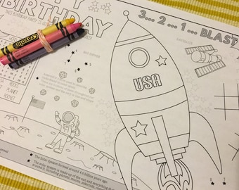 SPACE-Kids activity placemat- Digital file only